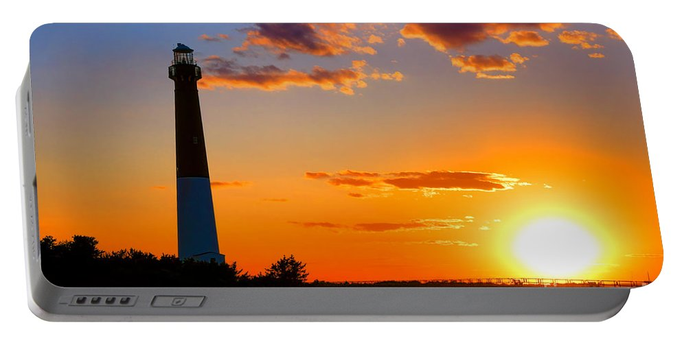 Barnegat Portable Battery Charger featuring the photograph Smokestack Barnegat by Olivier Le Queinec
