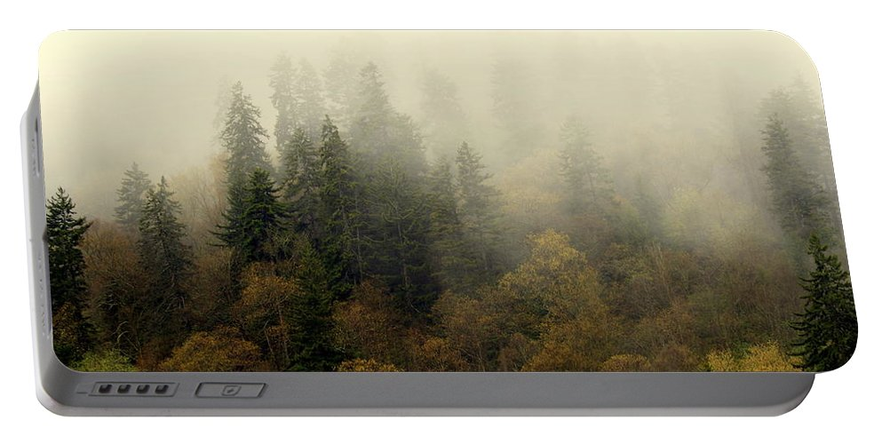 Fog Portable Battery Charger featuring the photograph Smoky Mount Horizontal by Marty Koch