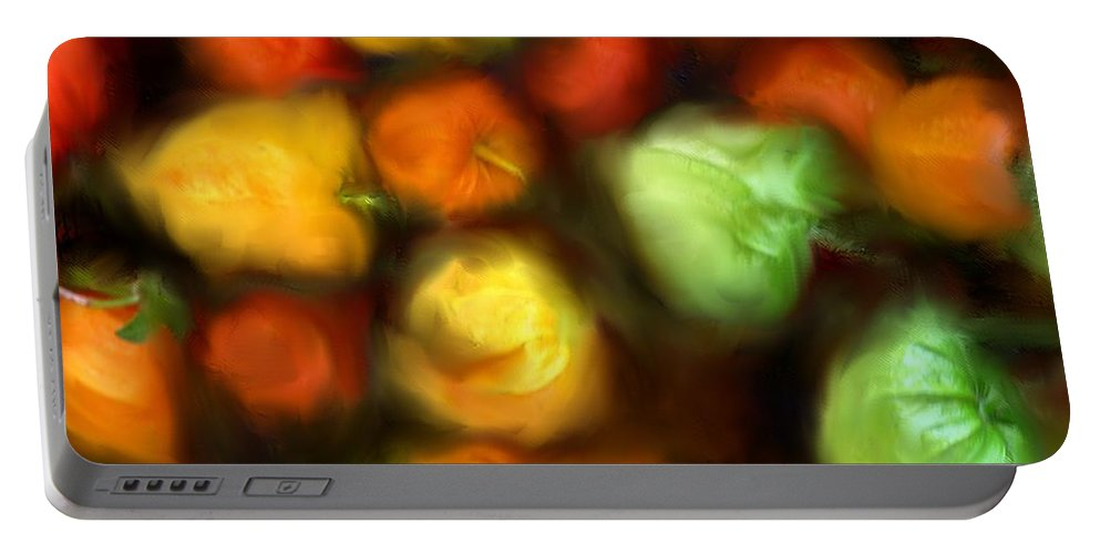 Peppers Portable Battery Charger featuring the photograph Smooth Peppers by Ian MacDonald