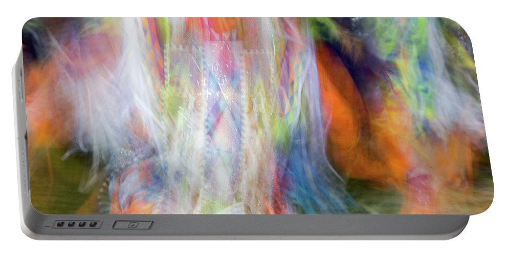 Pow Wow Portable Battery Charger featuring the photograph Smudge 213 by M Bubba Blume