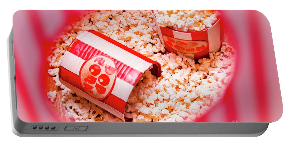 Entertainment Portable Battery Charger featuring the photograph Snack Bar Pop Corn by Jorgo Photography - Wall Art Gallery