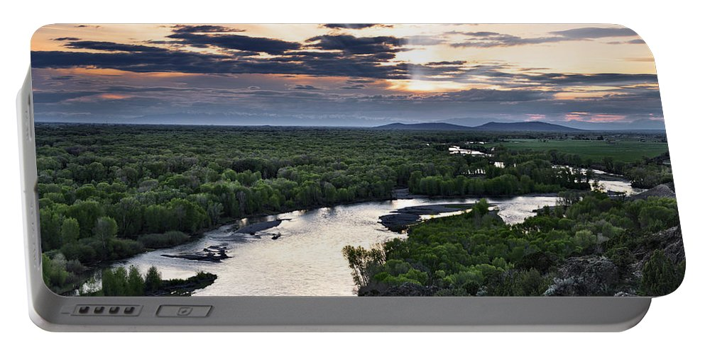 Snake River Portable Battery Charger featuring the photograph Snake River by Leland D Howard