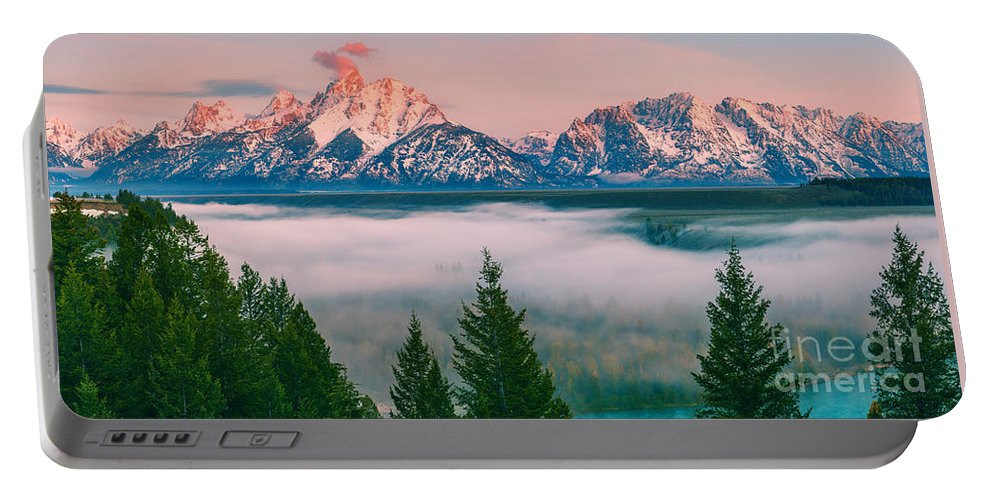 Usa Portable Battery Charger featuring the photograph Snake River Overlook - Grand Teton National Park by Henk Meijer Photography