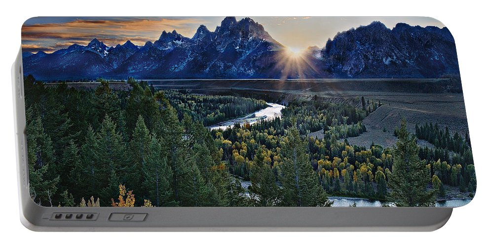 Mountains Portable Battery Charger featuring the photograph Snake River Overlook by John Christopher