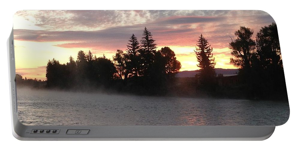 Landscape Portable Battery Charger featuring the photograph Snake River Sunrise by Darren Rudd