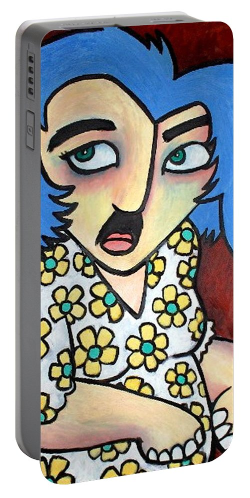 Portrait Portable Battery Charger featuring the painting Sneaker by Thomas Valentine