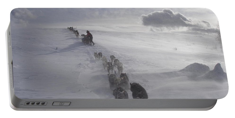 Landscape Portable Battery Charger featuring the photograph Snow And Clouds by Sarah Bevard