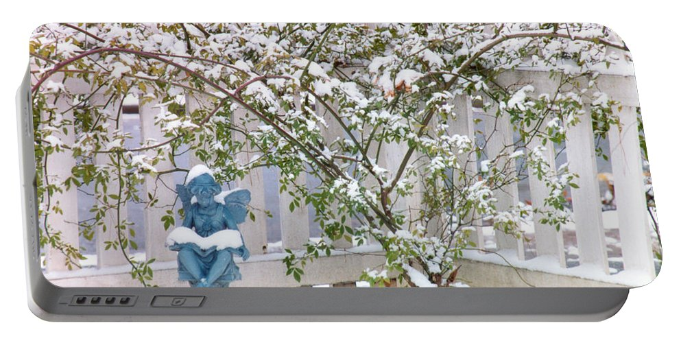 Snow Angel Portable Battery Charger featuring the photograph Snow Angel by Dale Powell