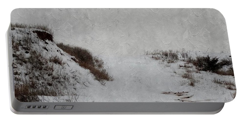 Snow Portable Battery Charger featuring the photograph Snow Blind by Annie Adkins