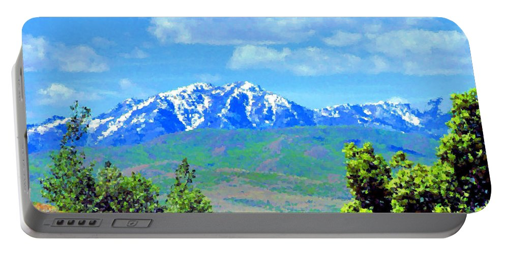 Mountains Portable Battery Charger featuring the photograph Snow Capped by Kristin Elmquist