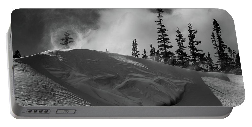 Landscape Portable Battery Charger featuring the photograph Snow Circle In The Mountains by Rob Lantz
