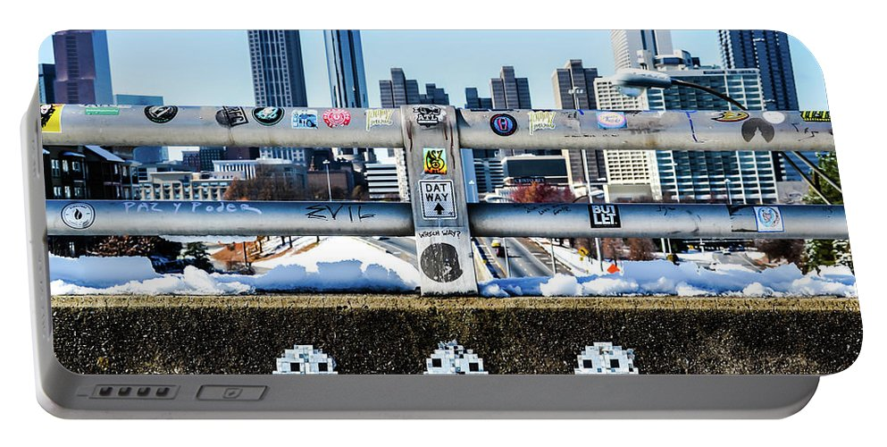 Atlanta Portable Battery Charger featuring the photograph Snow Day In The A by Kennard Reeves