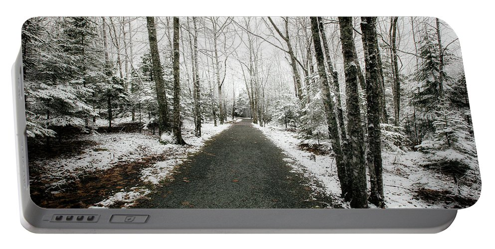 Snow Portable Battery Charger featuring the photograph Snow Dust by Susan Garver