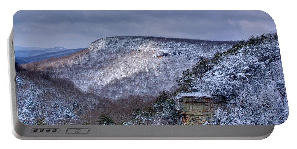 Snow Portable Battery Charger featuring the photograph Snow In The Mountains by Douglas Barnett
