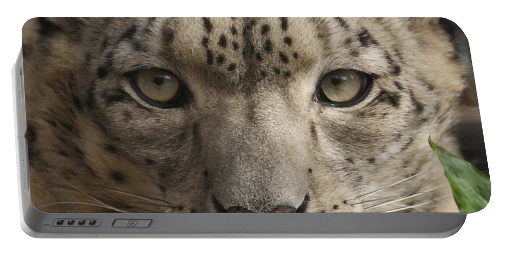 Animals Portable Battery Charger featuring the photograph Snow Leopard 13 by Ernie Echols