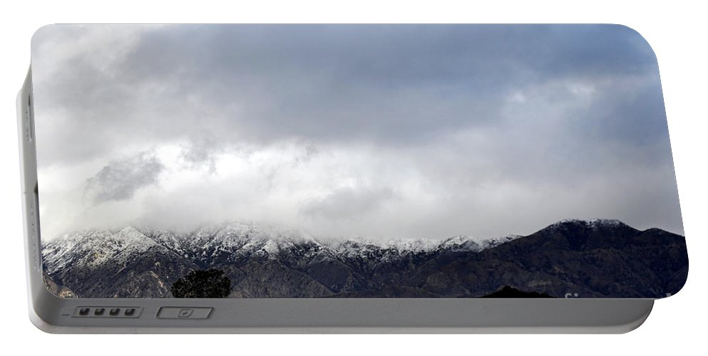 Clay Portable Battery Charger featuring the photograph Snow Line by Clayton Bruster