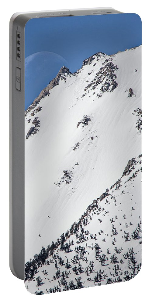 Alabama Hills Portable Battery Charger featuring the photograph Snow Moon by Travis Elder