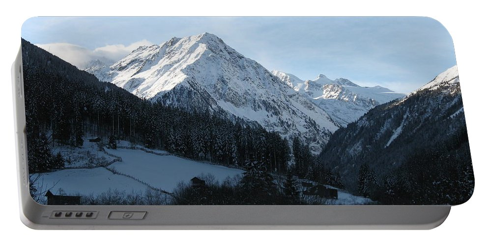 Snow Portable Battery Charger featuring the photograph Snow On The Mountains by Christiane Schulze Art And Photography