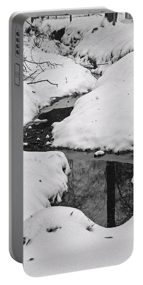 Winter Portable Battery Charger featuring the photograph Snow Stream 2 by David Campbell