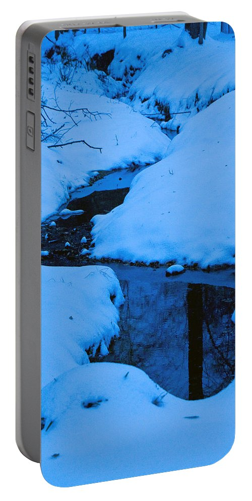 Snow Portable Battery Charger featuring the photograph Snow Stream by David Campbell