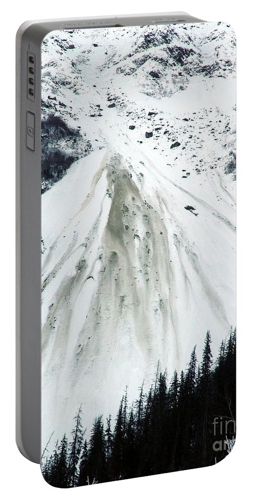Landscape Portable Battery Charger featuring the photograph Snow Then Land Slide by Ron Bissett