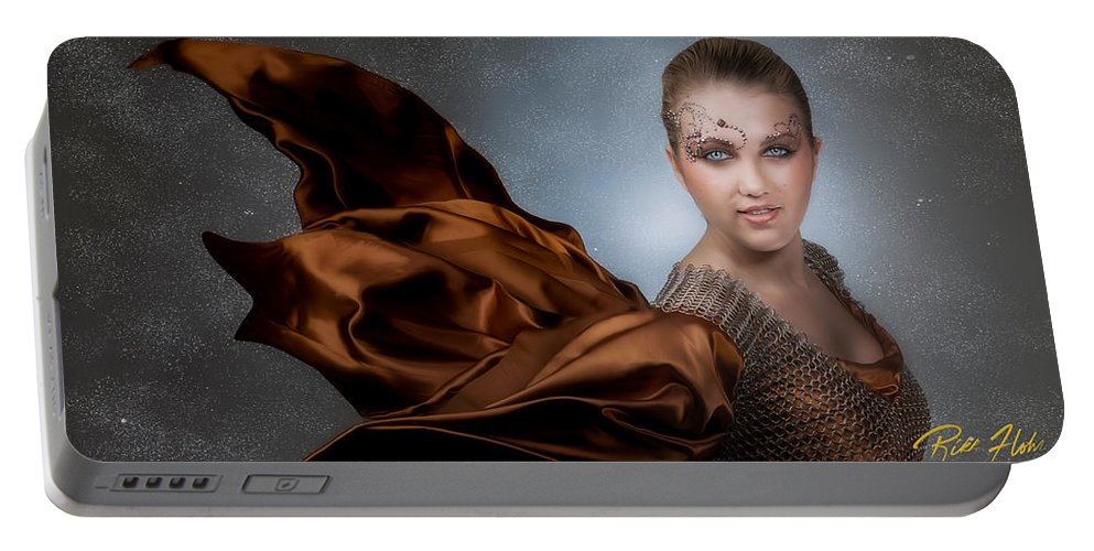 Models Portable Battery Charger featuring the photograph Snow Warrior by Rikk Flohr