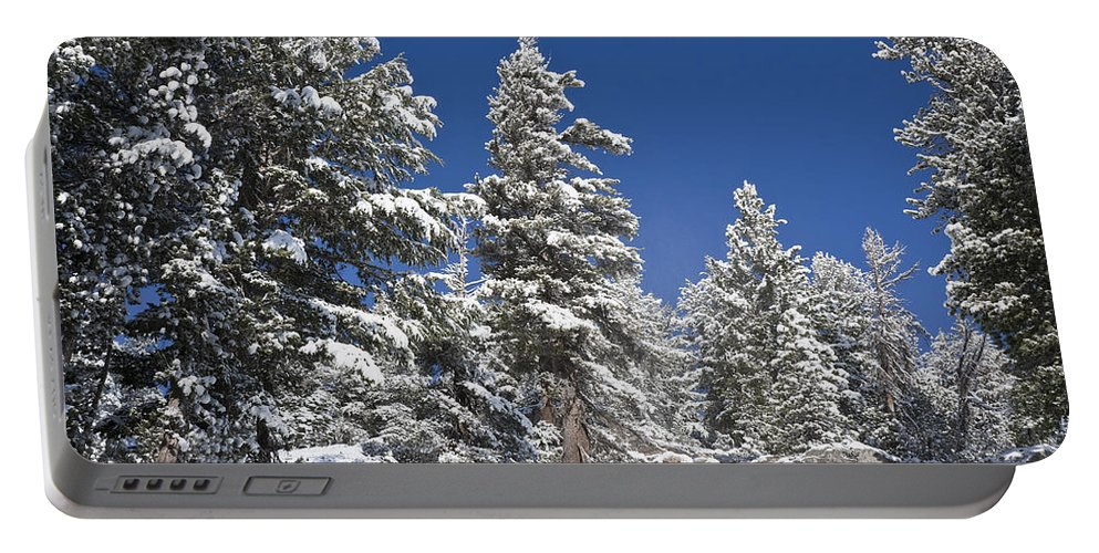 Winter Portable Battery Charger featuring the photograph Snowscape 2 by Kelley King