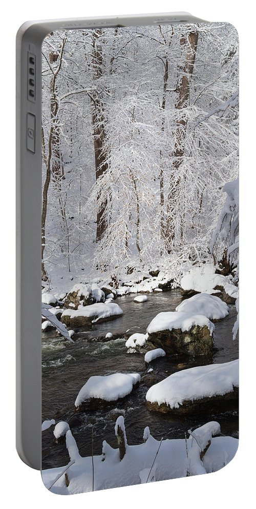 Snow Portable Battery Charger featuring the photograph Snowy Day by Ken Curtis