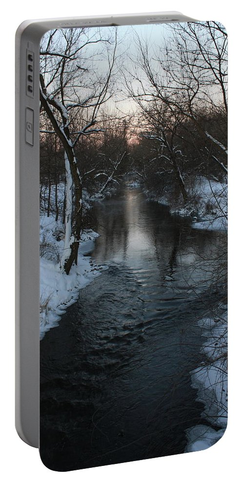 Water Portable Battery Charger featuring the photograph Snowy Pigeon Creek by Brook Steed