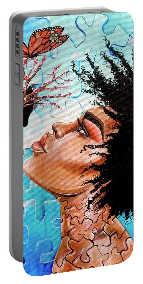 Butterfly Portable Battery Charger featuring the photograph So Much more to me that you just cant See by Artist RiA