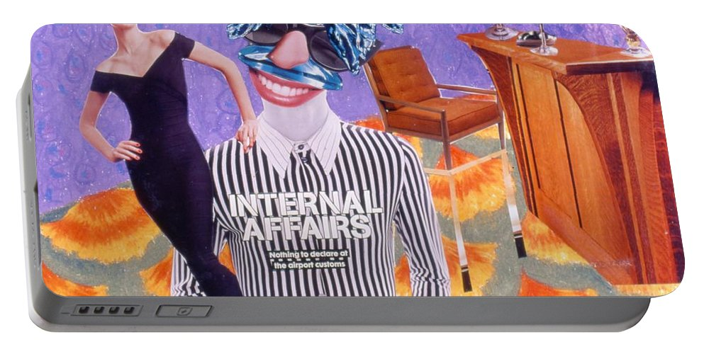 Woman Portable Battery Charger featuring the drawing Soap Scene #8 Internal Affairs Club by Minaz Jantz