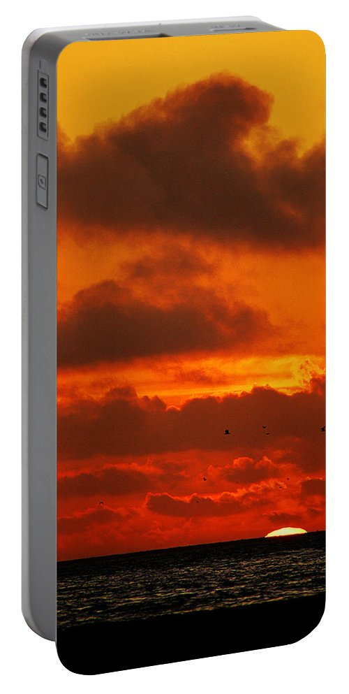 Clay Portable Battery Charger featuring the photograph Socal Sunset by Clayton Bruster