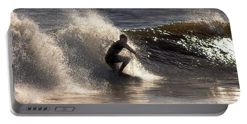 Clay Portable Battery Charger featuring the photograph Socal Surfing by Clayton Bruster