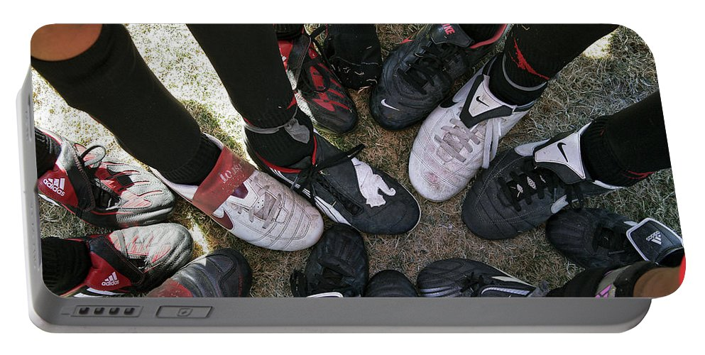 Soccer Portable Battery Charger featuring the photograph Soccer Feet by Kelley King