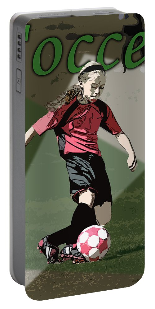 Soccer Portable Battery Charger featuring the photograph Soccer Style by Kelley King