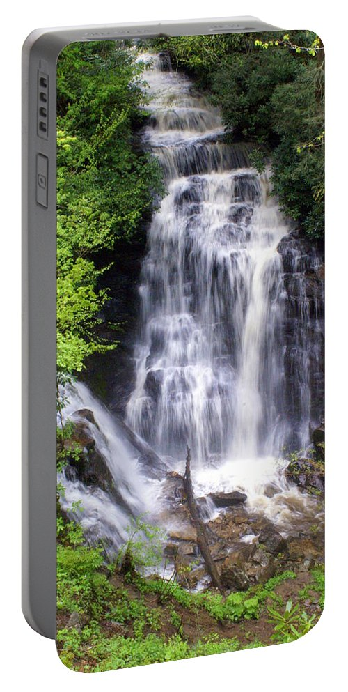 Soco Galls Portable Battery Charger featuring the photograph Soco Falls 1 by Marty Koch