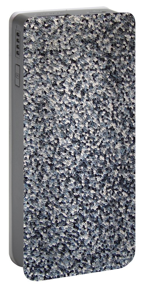 Abstract Portable Battery Charger featuring the painting Soft Grey Scale by Dean Triolo
