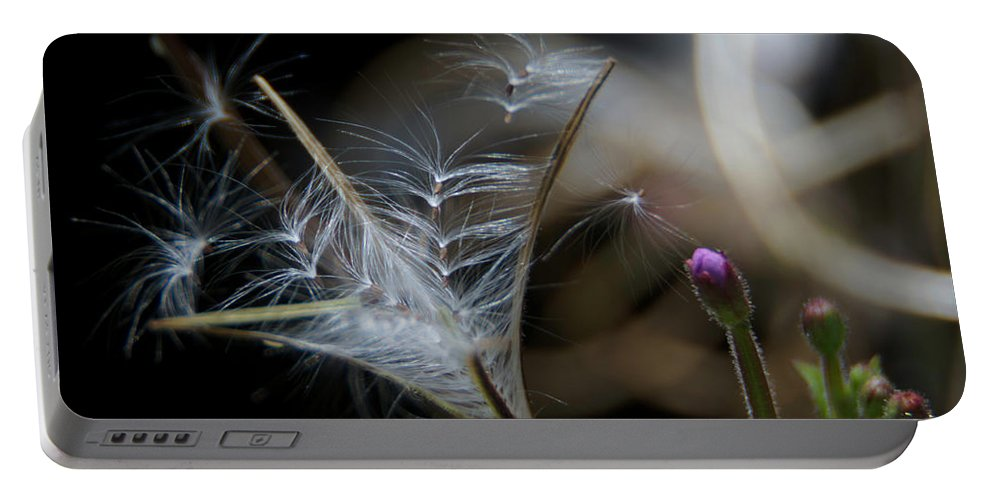 Flowers Portable Battery Charger featuring the photograph Soft Little Flowers by Wolfgang Stocker