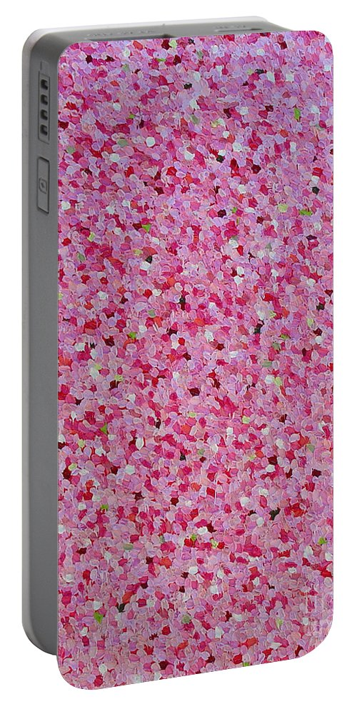 Abstract Portable Battery Charger featuring the painting Soft Red Light by Dean Triolo