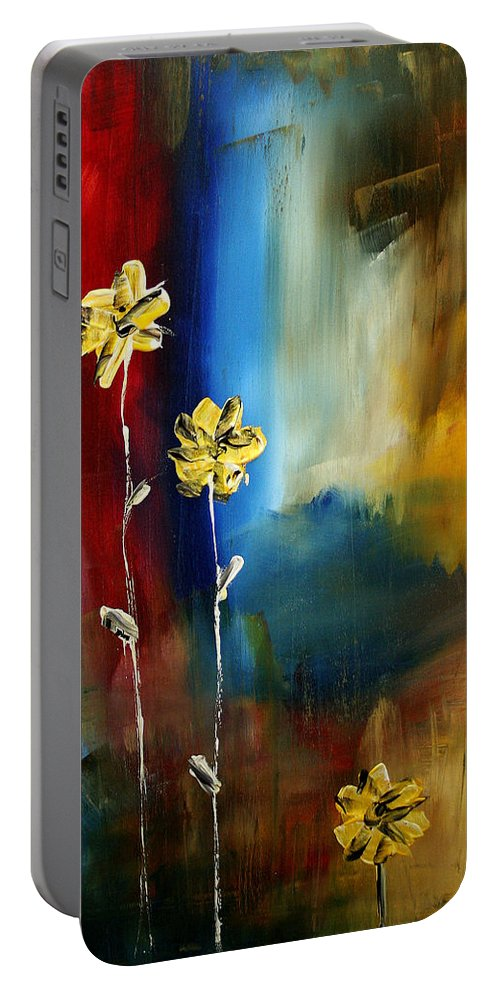 Wall Portable Battery Charger featuring the painting Soft Touch by Megan Duncanson