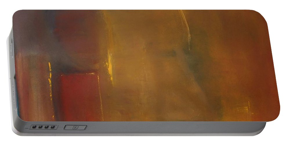 Portable Battery Charger featuring the painting Softly Reflecting by Jack Diamond