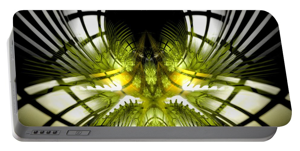 Fractal Portable Battery Charger featuring the digital art Solar Greenhouse by Amorina Ashton