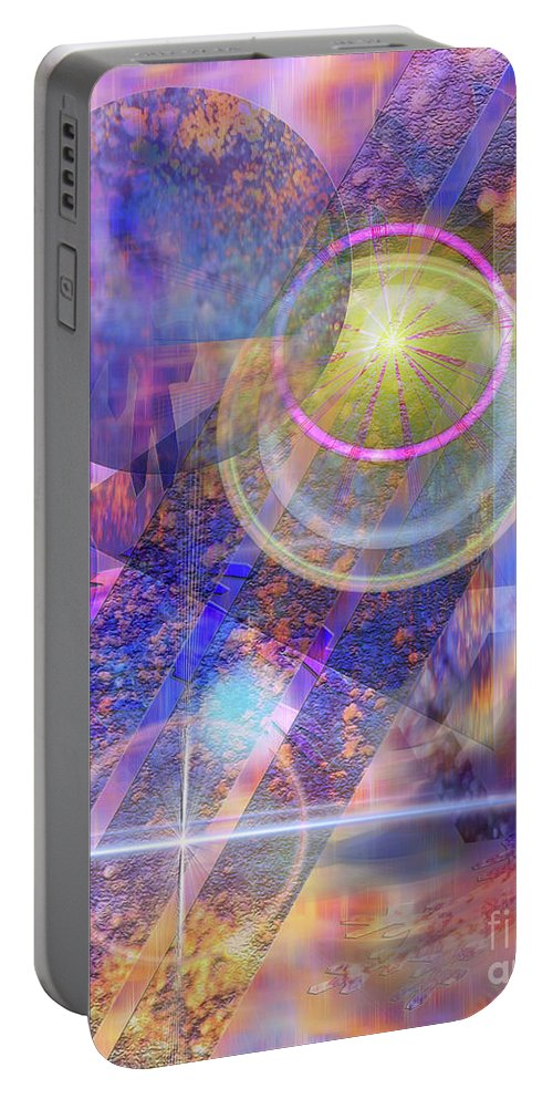Solar Progression Portable Battery Charger featuring the digital art Solar Progression by John Beck