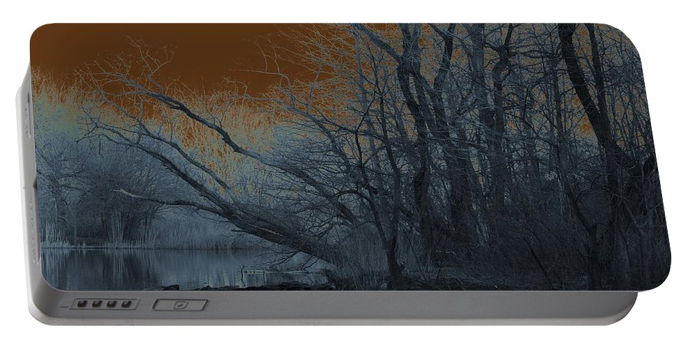 Solarization Portable Battery Charger featuring the photograph Solarization by Kendall Eutemey