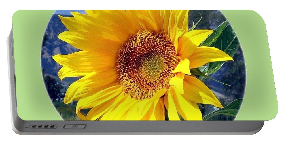 Sunflower Portable Battery Charger featuring the photograph Solid Sunshine by Will Borden