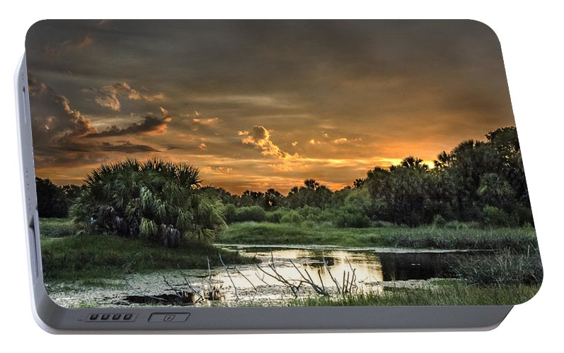 Sunset Portable Battery Charger featuring the photograph Solitude by Norman Johnson