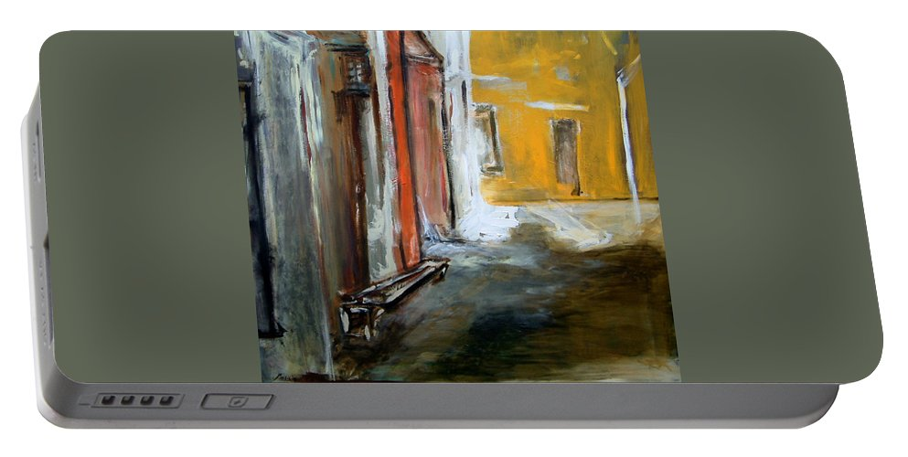 Easter Portable Battery Charger featuring the painting Solitude by Rome Matikonyte