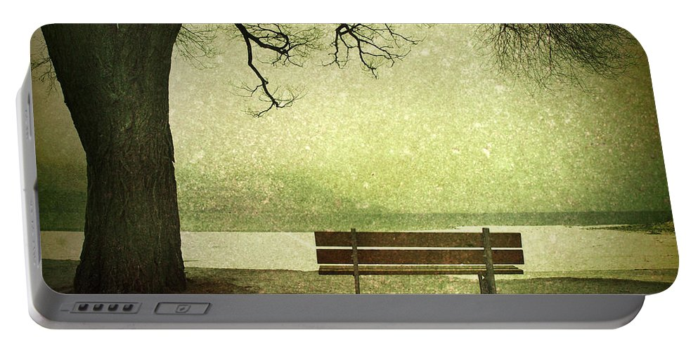 Bench Portable Battery Charger featuring the photograph Solitude by Tara Turner