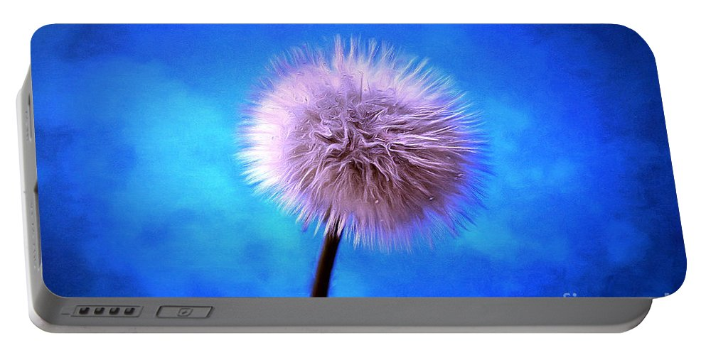 Dandelion Portable Battery Charger featuring the photograph Some Kind Of Magic by Krissy Katsimbras