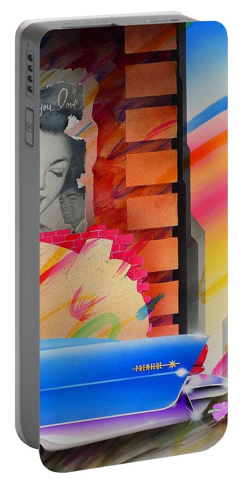 Collage Portable Battery Charger featuring the painting Someone You Love by Charles Stuart